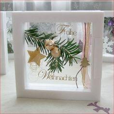 Weihnachtliche Dekoration mit dem Schweberahmen, schnell und einfach