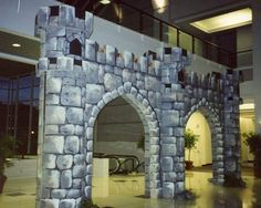View photos of our medieval themed décor event rentals and party rental equipment. Castle Backdrop, Castle Wall, Cinderella Musical, Styrofoam Art, Theater, Rapunzel Birthday Party, Kids Castle, Medieval Party, Visual And Performing Arts