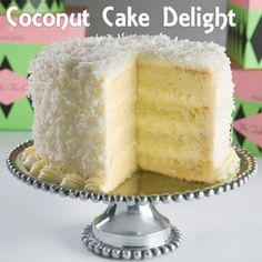 Coconut Cake Delight Recipe from Grandmother's Kitchen