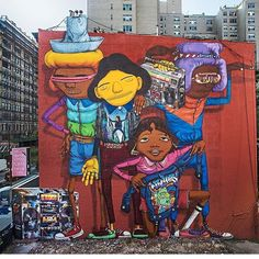 street art mural by osgemeos in New York City