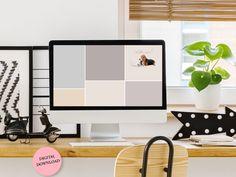 Mac OS Desktop Wallpaper Organiser with a dog Basset Hound   Etsy