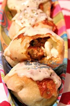 The Kitchen Whisperer Cheesy Meatball Stuffed Pizza Puffs - PERFECT Football Food!