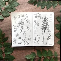 sketchbook page with hand studies :) Moleskine Sketchbook, Sketchbook Pages, Art Journal Pages, Art Journals, Sketchbooks, Create Your Own, Joy, Photo And Video, Instagram