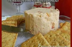 Homemade pimento and cheese spread