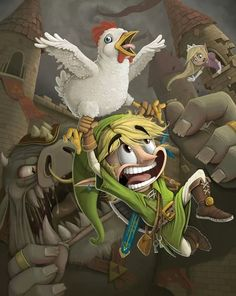 Fantastic art of Link flying away #Link #Legend of Zelda