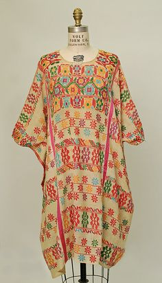 Huipil Date: 20th century Culture: Mexican Medium: cotton, rayon