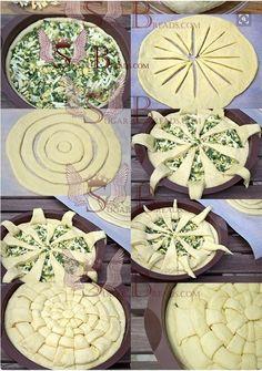 Így formázd a kelt tésztát – 30 ötlet lépésről lépésre | Konyhalál Pastry Recipes, Bread Recipes, Ring Cake, Bread Shaping, Food Art, Bakery, Food And Drink, Favorite Recipes, Snacks