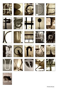 Typography project photographing objects that resemble letters of the alphabet.