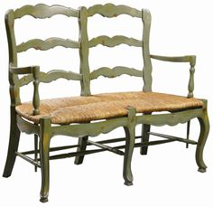 French Country Settee Loveseat