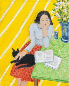 Black cat, 2008 by Barbara Grossman born 1943 in New York City, USA