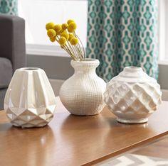 Ceramic Vase Flower Vases Centerpiece Home Decor Table Top Decorative Art 3 Pcs #Unbranded #Contemporary