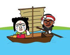 황포돛배|Hwangpo sailboat_황포돛배는 돛의 색이 누렇기 때문에 붙여진 이름으로 전국의 강에서 쌀과 물건, 사람을 나르던 대표적인 운송 및 교통 수단 입니다.