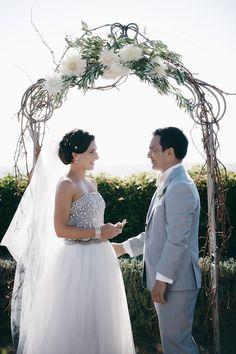 Marina & Hone marry at Mudbrick Wedding Advice, Wedding Ideas, Beach Gowns, Bridesmaid Dresses, Wedding Dresses, Ceremony Decorations, Bride Groom, Getting Married, Wedding Ceremony