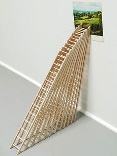 Matthew Northridge. Twelve Ladders, or, How I planned my Escape, 2009. Wood and found image.