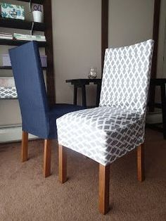 Welcome!   Making chair covers/ slip covers  became popular in a recent year. It's an easy and relatively inexpensive way of changing decor...