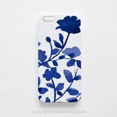 Indigo Flowers original design iPhone 5S case, iPhone 5/5S, iPhone 5C, iPhone 4/4S, Samsung Galaxy and iPad cases