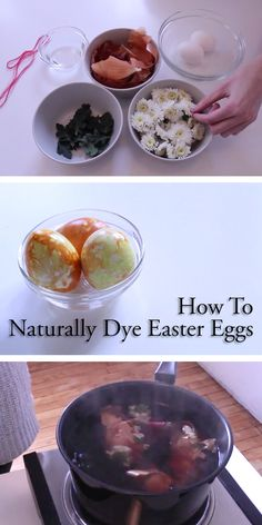 Find out how to make beautiful, floral-printed #Easter eggs. All-natural and costs almost nothing!