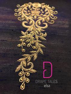 #drapetales #customised #bridal #handwork #kerala #trivandrum Zardosi Embroidery, Hand Work Embroidery, Hand Embroidery Designs, Beaded Embroidery, Embroidery Patterns, Embroidery Transfers, Embroidery Suits Design, Embroidery Fashion, Hand Work Design