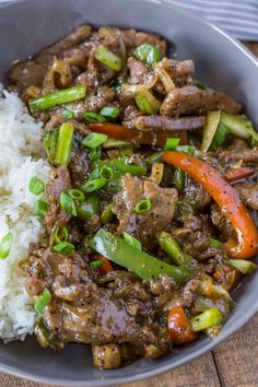 Chinese Pepper Steak is a classic Chinese restaurant favorite made at home with less fat and all the delicious salty, peppery flavors in under 30 minutes.