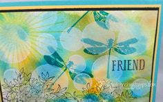 Hello Stampers   OH! the lovely Bokeh technique and this time with the Awesomely Artistic stamp set. That dragonfly is perfect for th...