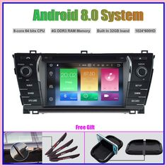 Hot Octa-Core Android 8.0 CAR DVD Player for TOYOTA COROLLA 2014 car radio stereo car gps navigation 2020 Toyota Corolla, Cheap Car Audio, Gps Navigation, Android, Hot