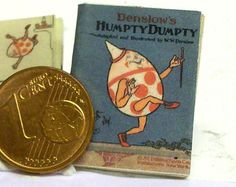 1219# Children's Book:  Humpty Dumpty - doll house miniature - in scale 1/12
