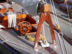 """Vema III"" - Norwegian 12 metre yacht.  Marynistyka.org, Marynistyka.pl"