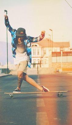 Longboard Moves - The Cross Step | surf skate, #style, #longboard, tattoos
