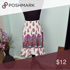 Adorable Purple & Pink Paisley Print Skirt In excellent condition. Lightweight, flowy, and extremely soft. Front looks the same as the back. Skirts Midi