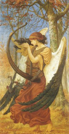 """Titania's Awakening"" by Charles Sims, 1896 Shakespeare's queen of the fairies awakens to love in this romantic portrait of the beautiful Titania and her majestic wings."