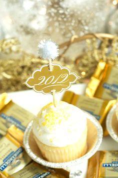 New Year's cupcake