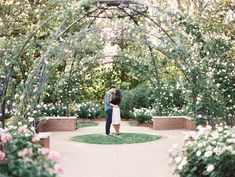 Dallas arboretum engagement photos