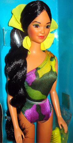 Barbie - Tropical Miko, 1980s. I cut all of her hair off! I thought I wanted to be a hair dresser...