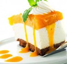 Layered Mango Dessert - Recipe works great with frozen mango!!