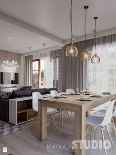 50 stylish neutral hued rooms przestronna jadalnia with images farmhouse dining room decorating ideas diningroomdecorating furnish your dining room wi. Living Room White, Chic Living Room, Living Room Modern, Living Room Interior, Living Room Decor, Elegant Dining Room, Dining Room Design, Dining Room Furniture, Living Room Hardwood Floors