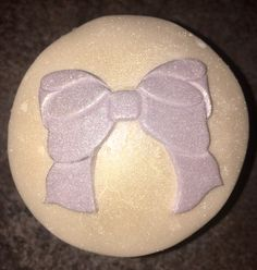 Lilac bow shaped cupcake