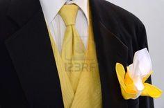 black tux with yellow vest & tie White Tuxedo Wedding, Black Tuxedo, Tuxedo For Men, Yellow Wedding, Men's Tuxedo, Daisy Wedding, Black Vest, Beach Wedding Groom, Wedding Suits