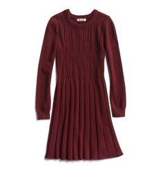 Winter Stylist picks: Burgundy sweater dress