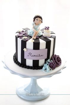 Pretty in blue ballerina cake by Bake-a-boo Cakes NZ, via Flickr