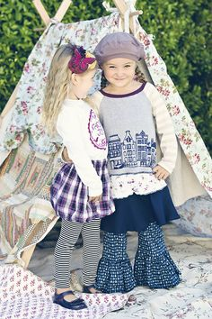 LBB fall collection 2011. Love the bubble skirts and leggings.