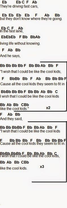 Flute Sheet Music: Cool Kids