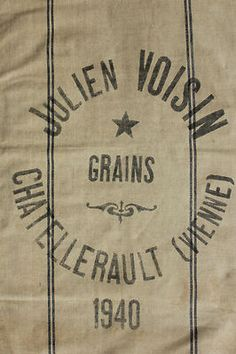 Vintage French grain sack for upholstery and pillows !