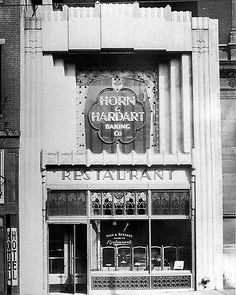 Ate one of these many times in NYC as a kid. A handful of nickels would buy you the worlds best eats. Horn and Hardart Restaurant, 1429 Arch Street -Philadelphia, PA (1931).