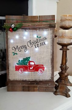 Want to add a little farmhouse Christmas decor? Check out this tutorial on how to build a DIY Christmas wood burlap sign two different ways.