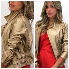 jaqueta dourada  moderna