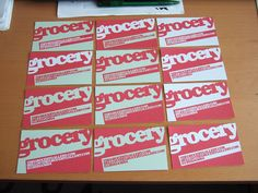 Grocery Business Cards