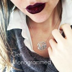 Get your initials monogrammed today at Onecklace.com!!