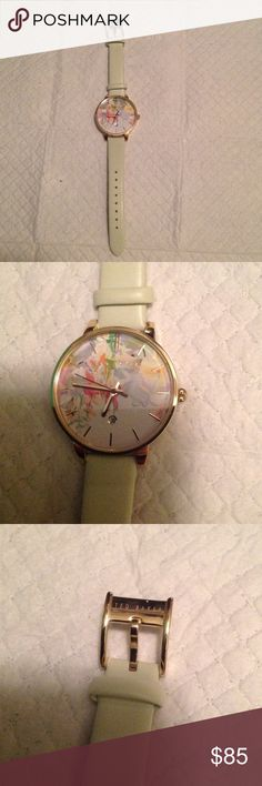 Ted Baker floral fashion watch Ted baker floral fashion watch with light mint green leather band Accessories Watches