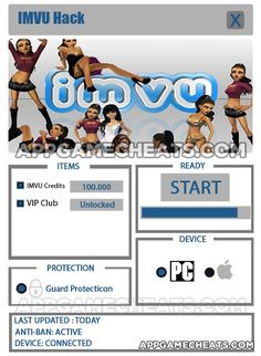 IMVU cheats & 2016 hack for IMVU Credits & VIP Club Membership unlock. PC & Mac compatible. No surveys or offers to fill out. Legit 2016 hack for IMVU.