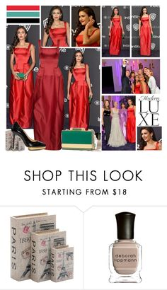 """""""2017 InStyle Golden Globes After Party~ Nina Dobrev"""" by snugget9530 ❤ liked on Polyvore featuring Home Decorators Collection, Elie Saab, Deborah Lippmann and Creed"""